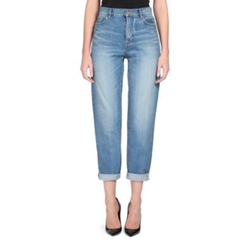 SAINT LAURENT Rolled Cuff Boyfriend Jeans