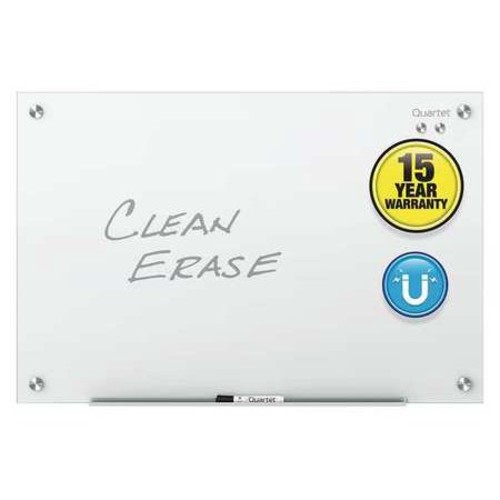 Quartet Infinity Magnetic White Glass Frameless Dry-Erase Board, 96