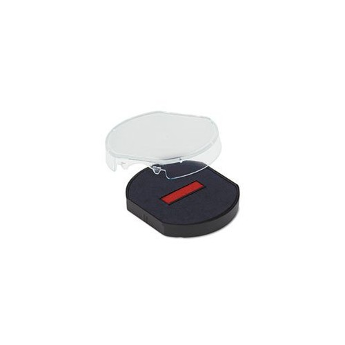 Trodat T46140 Dater Replacement Pad, 1 5/8, Red/Blue