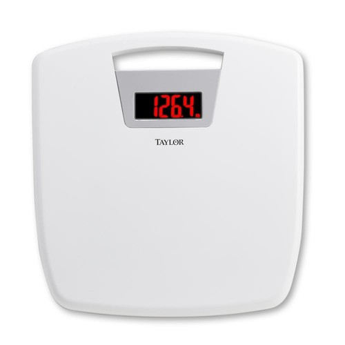 Taylor Digital Bath Scale with Handle in White