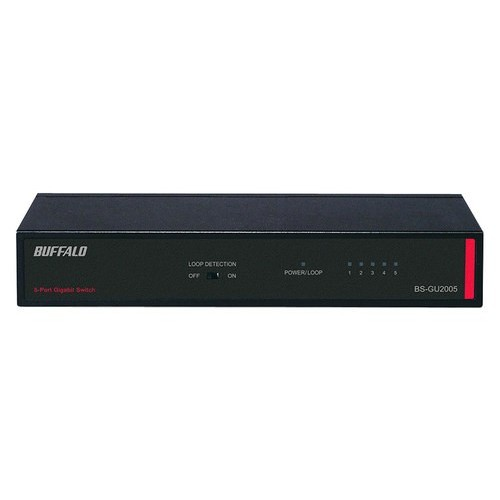 Buffalo Technology - 5-Port 10/100/1000 Gigabit Ethernet Switch - Black