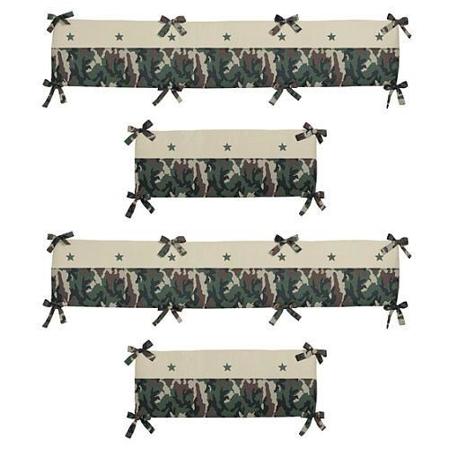 Sweet Jojo Designs Camouflage Green Crib Bumper