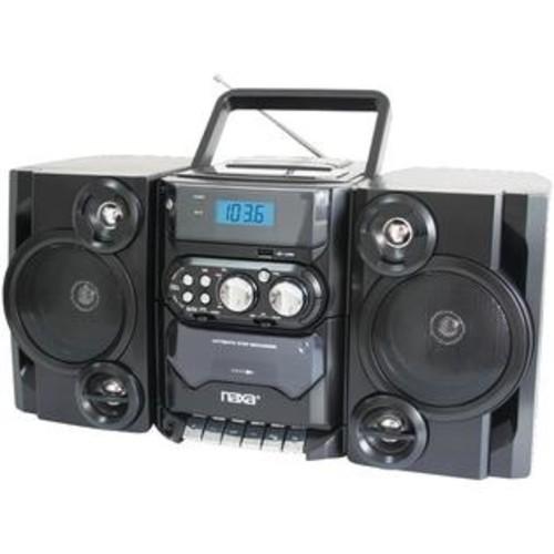 Naxa NPB428 Portable CD/MP3 Player w/Radio, Detachable Speakers, & USB Input