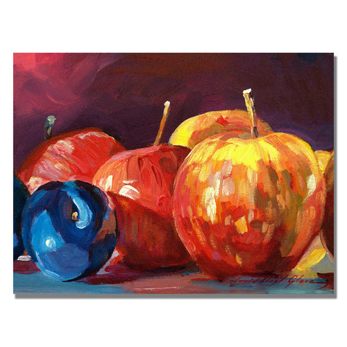 David Lloyd Glover 'Ripe Plums and Apples' Canvas Art [option : 18 x 24 'Ripe Plums and Apples' canvas art]