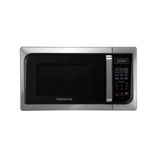 Classic 0.9 cu. ft. 900-Watt Countertop Microwave Oven in Stainless Steel/Black