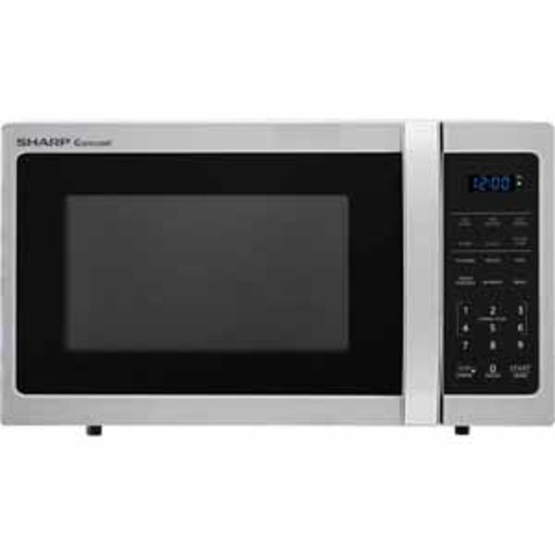 Sharp 0.9 cu.ft. Carousel Countertop Microwave Oven - Stainless Steel