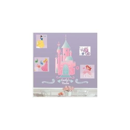 RoomMates RMK1785GM Disney Princess - Castle Peel & Stick Giant Wall Decal with Personalization