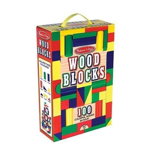 Melissa & Doug Toys - 100 Wood Blocks Set