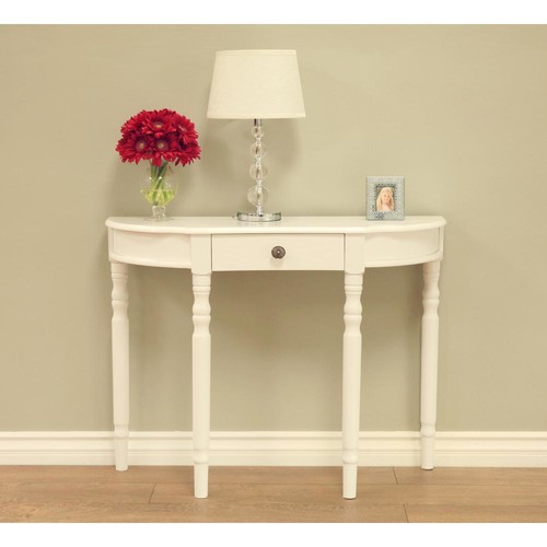 MegaHome White Storage Console Table