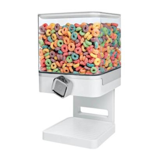 Zevro Compact Edition Single Dry Food Dispenser in White
