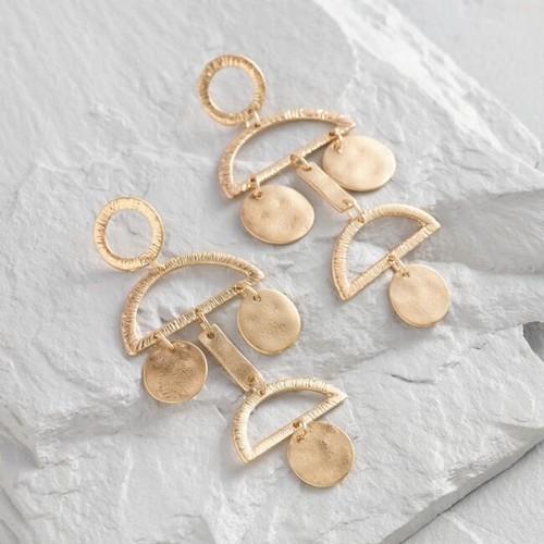 Gold Geometric Statement Dangle Earrings