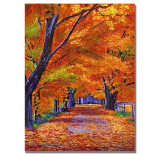 'Leafy Lane' by David Lloyd Glover Painting Print on Canvas