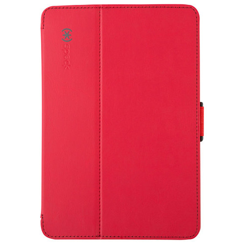 Speck - StyleFolio Case for Apple iPad mini, iPad mini 2 and iPad mini 3 - Dark Poppy Red/Slate Gray