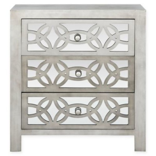 Safavieh Tasha 3-Drawer Chest in Grey