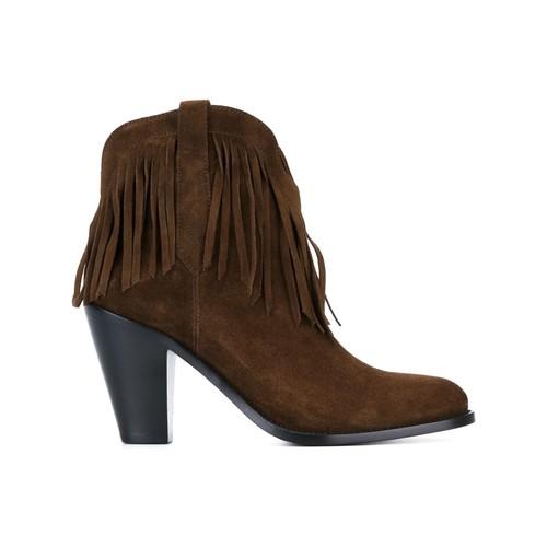 SAINT LAURENT 'Curtis' Fringe Ankle Boots