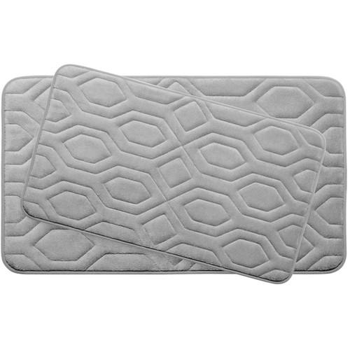 Turtle Shell Memory Foam 2-Piece Bath Mat Set w/ BounceComfort Technology