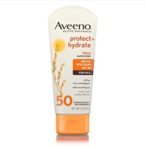 Aveeno Protect + Hydrate Lotion Sunscreen With SPF 50 For Face, 3 OZ