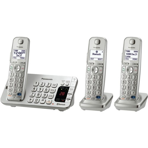 Panasonic Link-to-Cell Bluetoot KX-TGE273S Cellular Convergence Solution; 3 Handset System
