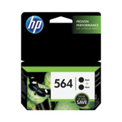 HP 564 2pack Black Original Ink Cartridges (C2P51FN#140)