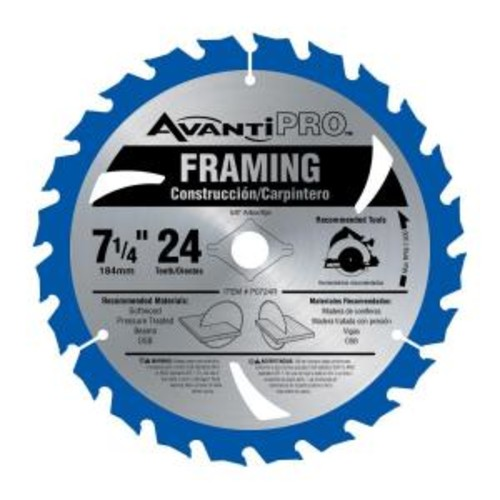 Avanti Pro 7-1/4 in. x 24-Tooth Carbide Framing Saw Blade (2-Pack)
