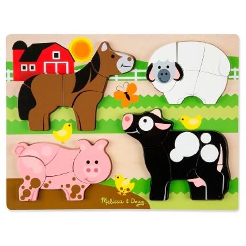 Melissa & Doug Chunky Jigsaw Puzzle - Farm Animals 20pc