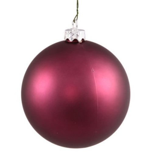 Vickerman 4.75 in. Matte Ball Ornament - Set of 4