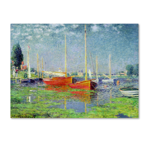 Trademark Global Claude Monet 'Argenteuil' Canvas Art [Overall Dimensions : 26x32]