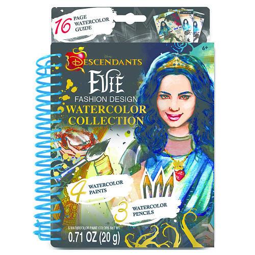 Disney Descendants Evie Fashion Design Make It Real Watercolor Sketchbook