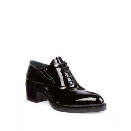PRADA Patent Leather Block-Heel Oxfords