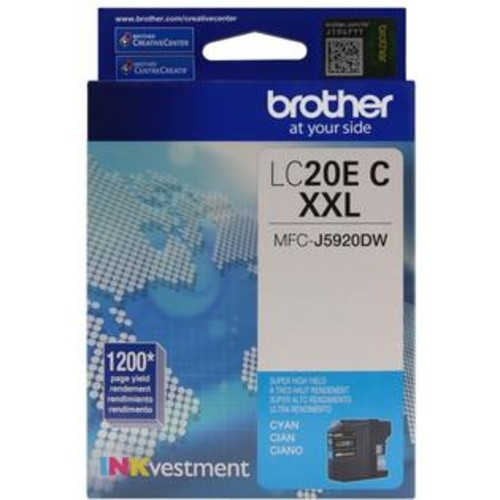 Brother LC-20EC INKvestment Super High Yield (XXL Series) Cyan Ink Cartridge