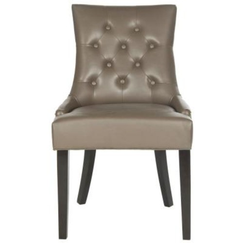 Safavieh Harlow Clay/Espresso Bicast Leather Side Chair (Set of 2)