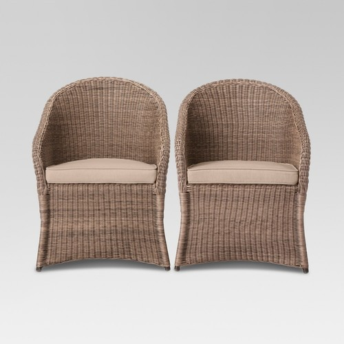Holden 2-Piece Wicker Patio Dining Chair Set - Threshold