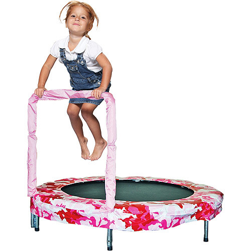 Bazoongi Bouncer Trampoline [Camouflage Pink, Frustration-Free Packaging, 48-Inch]