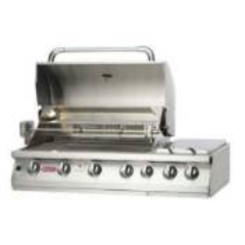 Bull Outdoor Products 18249 47-Inch 7 Burner Premium Stainless Steel Gas Barbecue with Built-in Dual Sideburner and Infrared Back Burner, Natural Gas [Natural Gas]