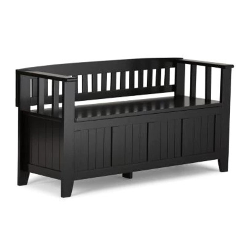 Simpli Home Acadian Entryway Bench