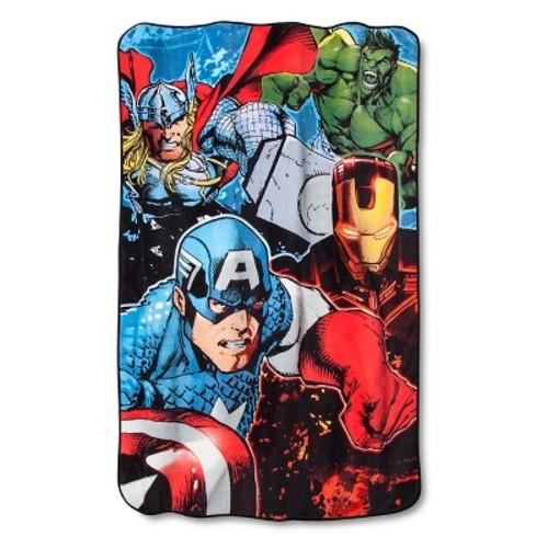 Marvel's The Avengers Blanket - Blue(Twin)