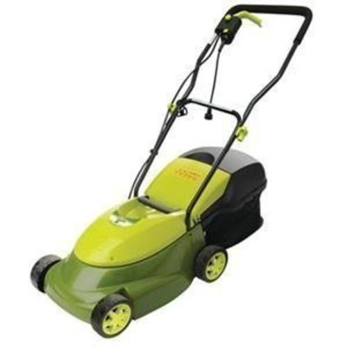 Sun Joe MJ401E Mow Joe 14-Inch 12 Amp Electric Lawn Mower With Grass Bag [Green, 36L x 16W x 38.5H in.]