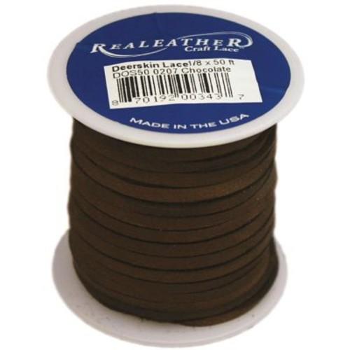 Silver Creek DOS50-0207 Deerskin Chocolate Lace, 50'L x 0.13