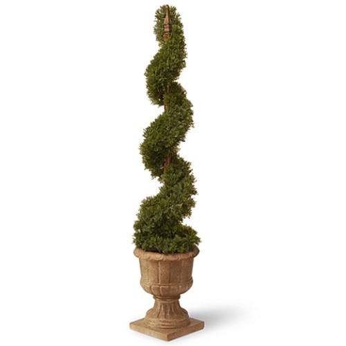 National Tree 48-Inch Cedar Spiral Plant in Urn