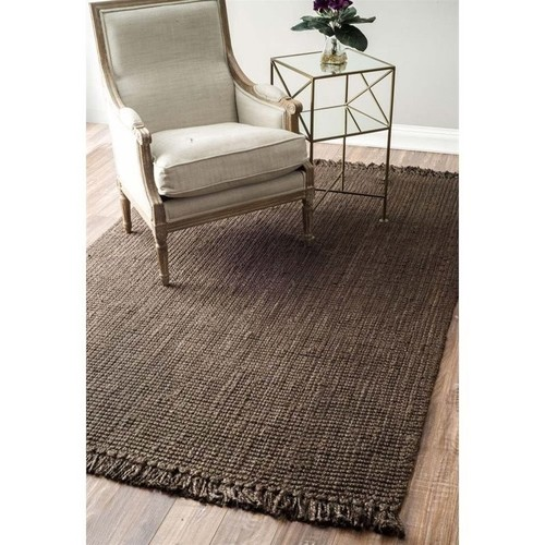 nuLOOM Chunky Loop Jute Chocolate 7 ft. 6 in. x 9 ft. 6 in. Area Rug