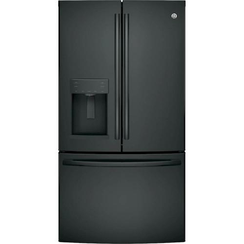 GE - 27.8 Cu. Ft. French Door Refrigerator - High gloss black