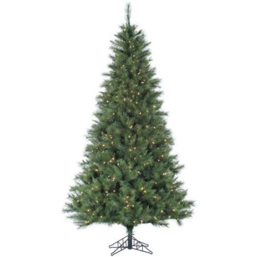 Fraser Hill Farm 7.5-Ft. Canyon Pine Artificial Christmas Tree with Smart String Lighting
