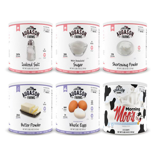 Augason Farms Baking Essentials Variety Kit No. 10 Can 6 Pack