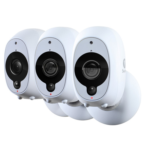 Swann 1080p Wire-Free Night Vision Smart Security Cameras, 3 pk.