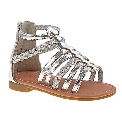 Laura Ashley Size 0-3M Gladiator Sandal in Silver