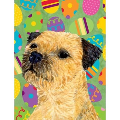 Caroline's Treasures Easter Eggtravaganza 2-Sided Garden Flag; Border Terrier