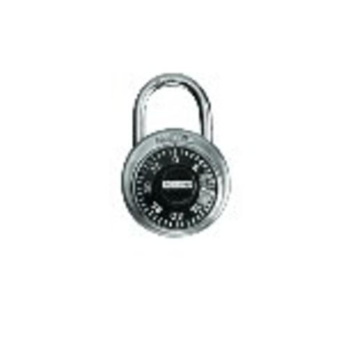 Master Lock Padlock, Standard Dial Combination Lock, 1-7/8 in. Wide, Black, 1500D