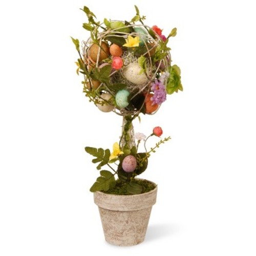 National Tree Company 17 in. Garden Accents Easter Egg Topiary