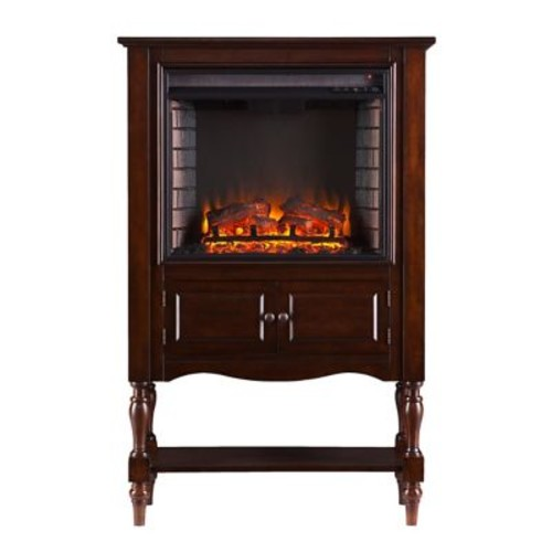 SEI Providence Wood/Veneer Electric Floor Standing Fireplace