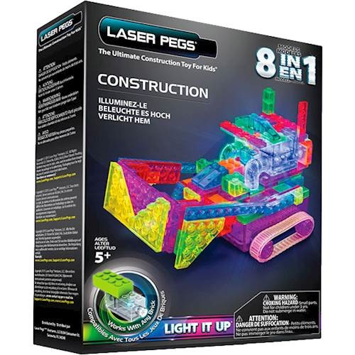LASER PEGS - 8-In-1 Motorized Construction Runners Set
